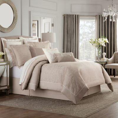 valeron ambroise california king comforter set in blush - Cal King Comforter Sets