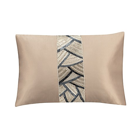 Valeron Ambroise Beaded Oblong Throw Pillow in Gold - Bed Bath & Beyond