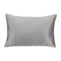 Valeron Fiesol Pin Dot Oblong Throw Pillow in Grey