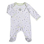 Sterling Baby Preemie  One of a Kind  Star Footie Grey