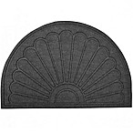 Aqua Brush Sunburst 24-Inch x 36-Inch Door Mat in Grey