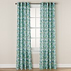 Chloe Print 95-Inch Grommet Window Curtain Panel in Aqua