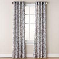 Chloe Print 95-Inch Grommet Window Curtain Panel in Grey