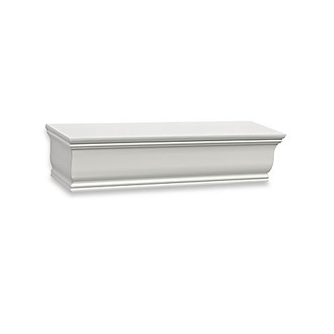Buy real simple 18 inch crown molding shelf in white from for 9 inch crown molding