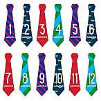 Pearhead Necktie Milestone Stickers (Set of 12)