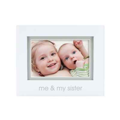 "Pearhead® ""Me and My Sister"" 4-Inch x 6-Inch Picture Frame in White"