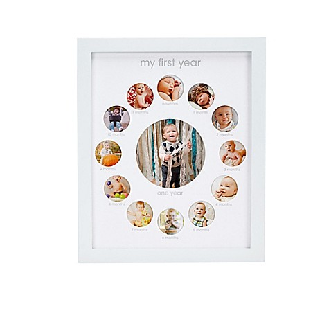 Pearhead 174 Quot My First Year Quot 13 Photo Collage Frame In White
