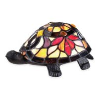 Quoizel Tiffany Flower Turtle Table Lamp