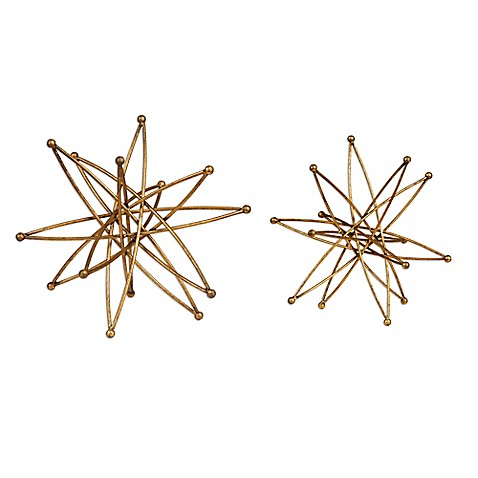 image of Uttermost Costanza Atom Accessories in Gold (Set of 2)