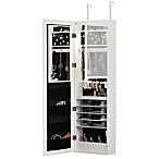 Door Solutions™ Over-the-Door Mirrored Mega Cabinet in White