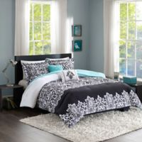 Intelligent Design Leona 4-Piece Twin/Twin XL Comforter Set in Black