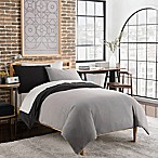 Crew Reversible Twin Duvet Cover Set in Grey
