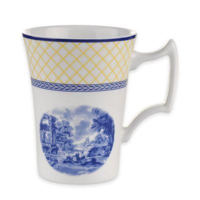 spode giallo cottage mugs set of 4