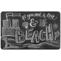 The Softer Side by Weather Guard™ Beach 18-Inch x 27-Inch Kitchen Mat in Black/White