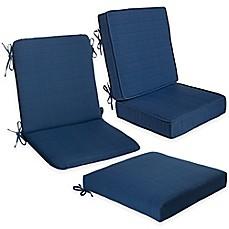 Forsyth Outdoor Seat Cushion Collection In Indigo