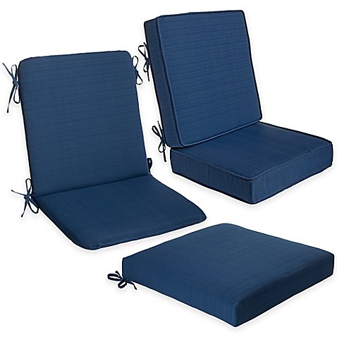 Forsyth outdoor seat cushion collection in indigo bed for Bed bath beyond gel seat cushion