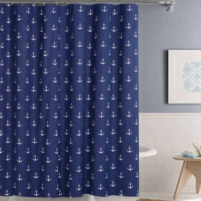 bed bath and beyond bathroom curtains. Anchors Away Shower Curtain Buy Nautical Curtains from Bed Bath  Beyond