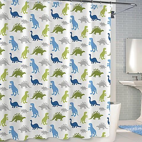 Kassatex Bambini Dinosaur Park Shower Curtain