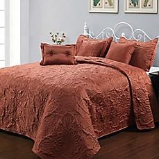parkley 6-piece bedspread set in spice - bed bath & beyond
