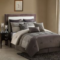 VCNY Mali 9-Piece King Comforter Set in Brown