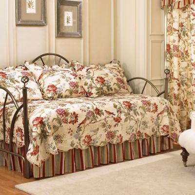 waverly charleston chirp reversible daybed bedding set in papaya