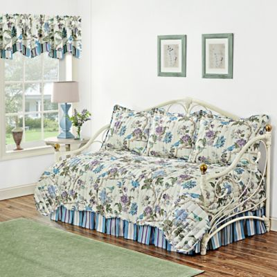 waverly charleston chirp larkspur reversible daybed set