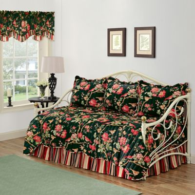 waverly charleston chirp noir reversible daybed bedding set - Waverly Bedding