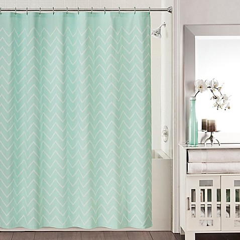Blake Shower Curtain In Aqua