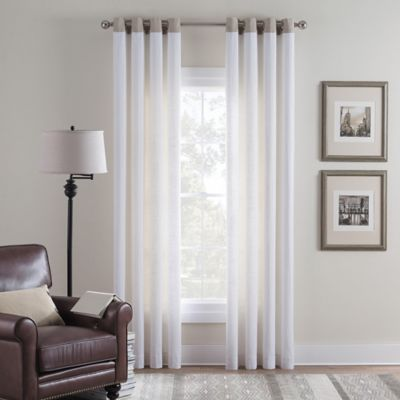 Cambria® Malta Remix 63 Inch Grommet Top Window Curtain Panel In Off White Part 74