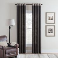 Cambria® Malta Remix 84-Inch Grommet Top Window Curtain Panel in Charcoal