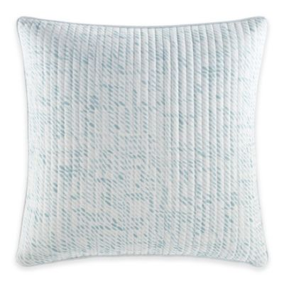 White Quilted Decorative Pillows : Nautica Long Bay Quilted Square Throw Pillow in White - Bed Bath & Beyond