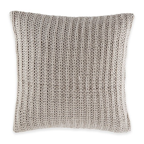 Nautica Sandy Creek Knit Square Throw Pillow in Grey - Bed Bath & Beyond
