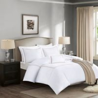Madison Park Signature 1000-Thread-Count Embroidered Full/Queen Duvet Cover Set in Tan