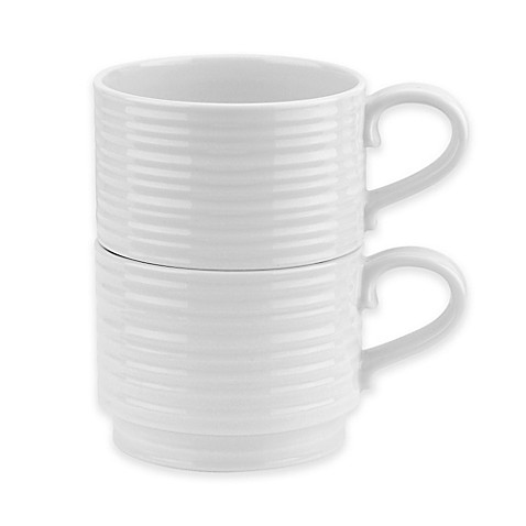 image of Sophie Conran for Portmeirion® Stacking Mugs in White (Set of 2)