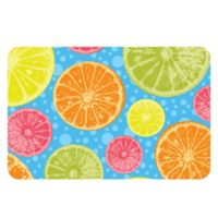 The Softer Side by Weather Guard™ 18-Inch x 27-Inch Zesty Blue Kitchen Mat