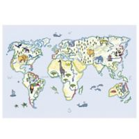 The Softer Side by Weather Guard™ 23-Inch x 36-Inch Animals of the World Kitchen Mat