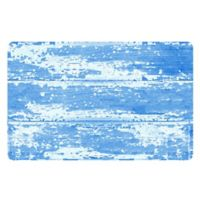 The Softer Side by Weather Guard™ 18-Inch x 27-Inch Barnboard Kitchen Mat in Blue