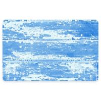 The Softer Side by Weather Guard™ 23-Inch x 36-Inch Barnboard Kitchen Mat in Blue
