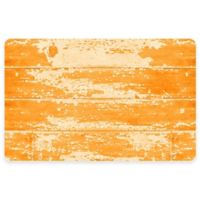 The Softer Side by Weather Guard™ 23-Inch x 36-Inch Barnboard Kitchen Mat in Orange