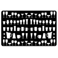The Softer Side by Weather Guard™ 18-Inch x 27-Inch Barware Kitchen Mat in Black