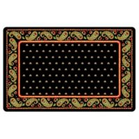 The Softer Side by Weather Guard™ 18-Inch x 27-Inch Black Paisley Kitchen Mat