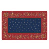 The Softer Side by Weather Guard™ 23-Inch x 36-Inch Blue Chintz Kitchen Mat