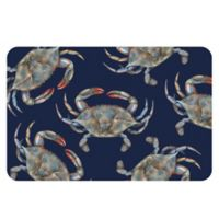 The Softer Side by Weather Guard™ 18-Inch x 27-Inch Blue Crabs Kitchen Mat