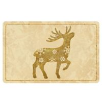 The Softer Side by Weather Guard™ 18-Inch x 27-Inch Brass Reindeer 2 Kitchen Mat