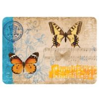 The Softer Side by Weather Guard™ 23-Inch x 36-Inch Butterfly Card Kitchen Mat