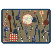 The Softer Side by Weather Guard™ 23-Inch x 36-Inch Calico Kitchen Mat
