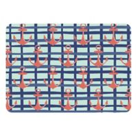 The Softer Side by Weather Guard™ 23-Inch x 36-Inch Anchors Plaid Kitchen Mat