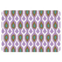 The Softer Side by Weather Guard™ 18-Inch x 27-Inch Clairebella Ikat Tribe Kitchen Mat in Violet