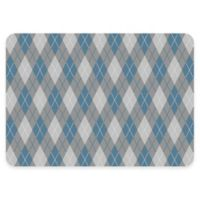 The Softer Side by Weather Guard™ 18-Inch x 27-Inch Classic Argyle Kitchen Mat in Cool