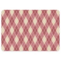 The Softer Side by Weather Guard™ 18-Inch x 27-Inch Classic Argyle Kitchen Mat in Warm